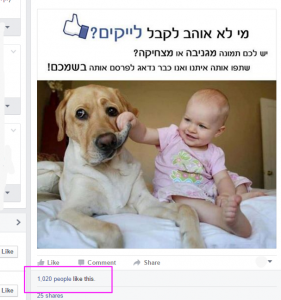 לייקים אוטומטיים בפייסבוק